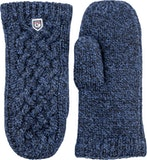 Freja Wool Mitt / Medium blue