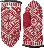 Nordic Wool Mitt / Red / Offwhite
