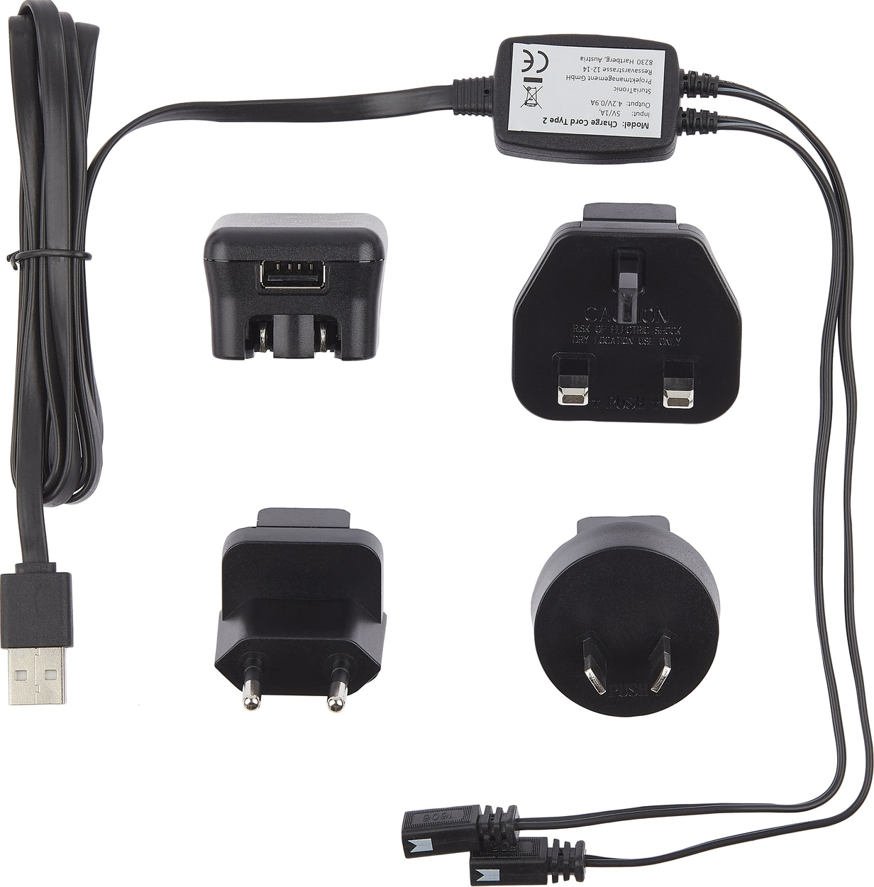 Produktbild för 90441 USB adapter incl USB charge cord Type2