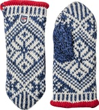 Nordic Wool Mitt / Medium blue / Offwhite