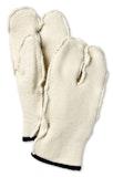 Wool Terry Split Mitt Liner / Offwhite
