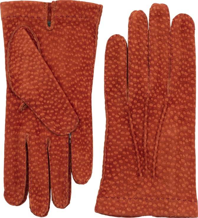 Product image for Carpincho Handsewn Unlined, Brick red