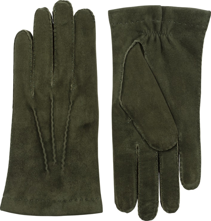 Product image for Hairsheep Suede Handsewn Cashmere, Dark olive