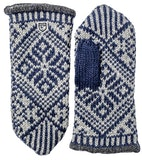 Nordic Wool Mitt / Navy / Grey